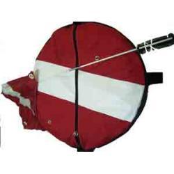 Innertube Cover Red w/ white stripe