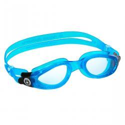 KAIMAN GOGGLE CLEAR LENS/CLEAR SKIRT BLUE FRAME - SMALL