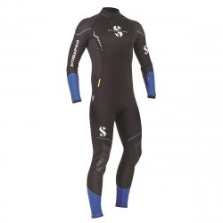 Sport Steamer 3mm Bzip Men's Suit, Black/Blue