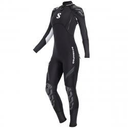 Everflex Steamer Suit 3/2 mm Women's Suit No Zip - Black