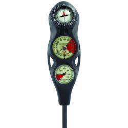 3-GAUGE IN-LINE DIVE CONSOLE W/ FS-1.5 COMPASS, PGPSI DGFT