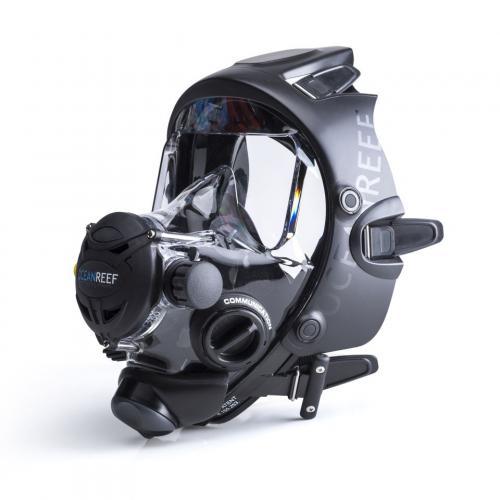 Full face dive mask black