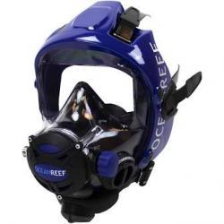 Full face dive mask black/blue