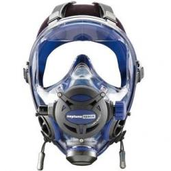 Full Face Dive Mask, Blue w/ White Cover (not shown)
