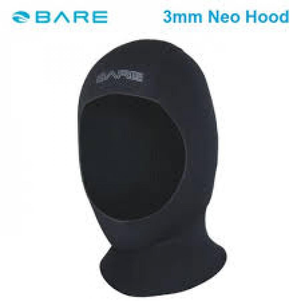 3mm Neo Hood, Black- M