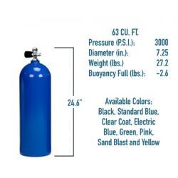 63 CF AL Cylinder w/Yoke Valve