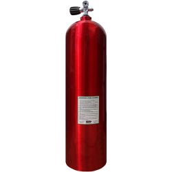 80 CF AL Cylinder w/K Valve - Red