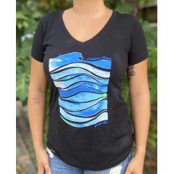 Women's Wavecation V-Neck T-Shirt