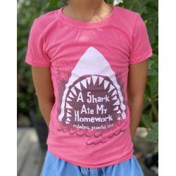 Youth Shark Ate My Homework T-Shirt