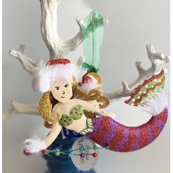 Ornament Glitter Metal Mermaid