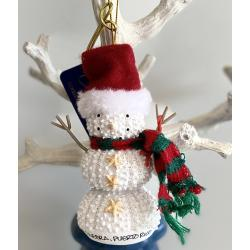 Resin Ornament Sea Urchin Snowman