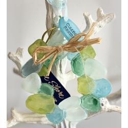 Resin Ornament Sea Glass Wreath