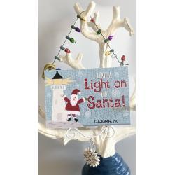 Wood Ornament - Leave a Light On