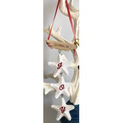 Resin Ornament - String of Starfish Joy