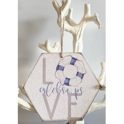 Wood Ornament - Love Buoy