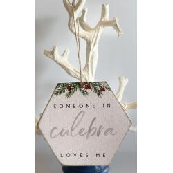Wood Ornament - Someone Loves Me