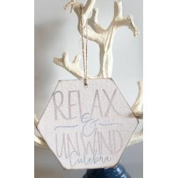 Wood Ornament, Relax & Unwind