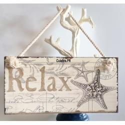 Metal String Sign - Relax