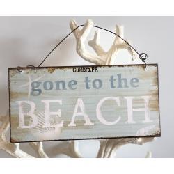 Metal Sign w/String, Beach
