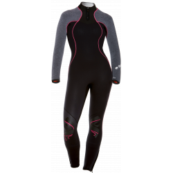 BARE Nixie Ultra Full Women's Wetsuit in Grey Heather