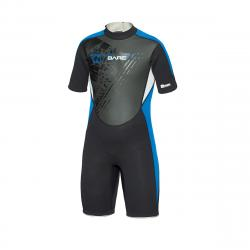 BARE 2mm Youth Shorty Wetsuit - Blue