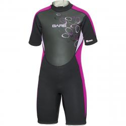 BARE 2mm Youth Shorty Wetsuit - Purple