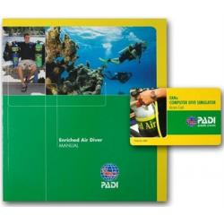 PADI Enriched Air Manual w/Dive Computer Simulator