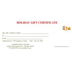 Gift Certificates Christmas
