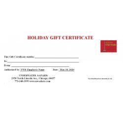 Gift Certificate Festivus