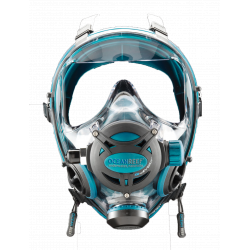 G. DIVERS FULL FACE MASK EMERALD SIZE M/L