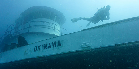 July 25th: Okinawa Wreck Dive