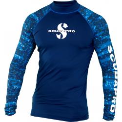 Aegean Rash Guard Mens, Long Sleeve (UPF50)- Blue