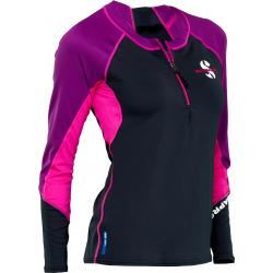 Jewel Rash Guard Womens, C-Flow, Long Sleeve (UPF50) - Pink/Purpl