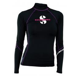 Onyx RashT-Flex Womens, Long Sleeve (UPF80)- Black/Purple