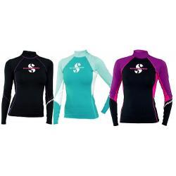 Caribbean T-Flex Womens, Long Sleeve (UPF80)- Teal