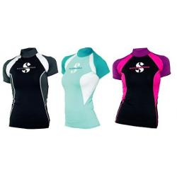 Caribbean T-Flex Womens, Short Sleeve (UPF80)- Teal