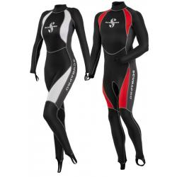 Everflex Skin Suit Men's,Small, Red/Black