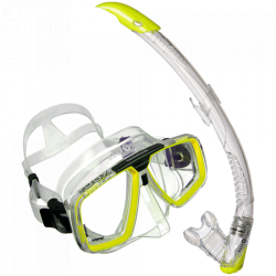 Look2 Mask and Zephyr Snorkel Combo Yellow
