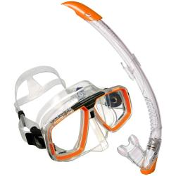 Aqua Lung look 2 Mask and Zephyr Snorkel Combo Orange