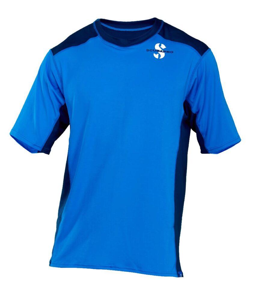 Aegean Rash Guard Mens, C-Flow, Short Sleeve (UPF50)- Blue