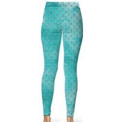 Teal Mermaid Leggings