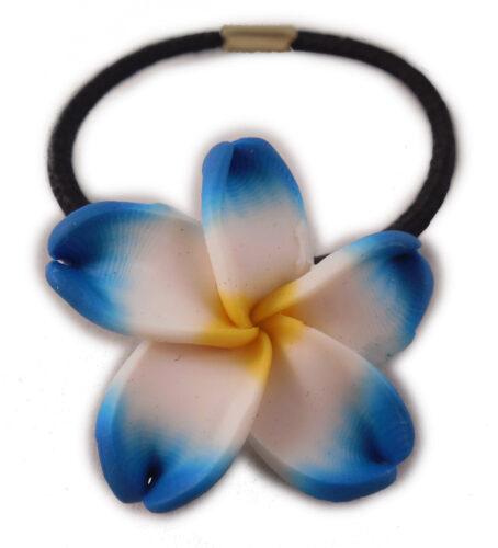 Charming Shark Flower Hair Tie Elastic Blue