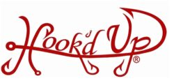 Hook'D Up Signature Decal 3 X 7 Inch Red