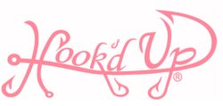 Hook'D Up Signature Decal 3 X 7 Inch Pink