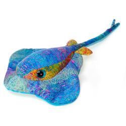 Fiesta Scribbleez Blue Stingray Plush Toy