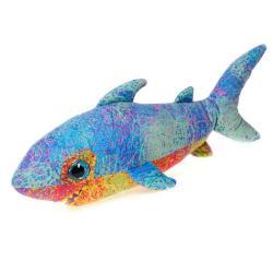 Fiesta Scribbleez Blue Shark Plush Toy