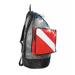 Rock N' Sports Mesh Gearbag Large Bag 30X15 Large Red/White