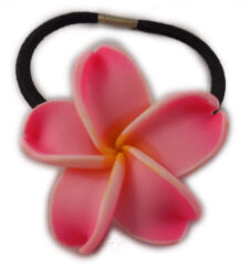 Charming Shark Flower Hair Tie Elastic Pink
