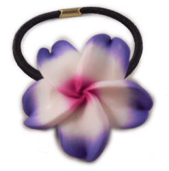 Charming Shark Flower Hair Tie Elastic Purple