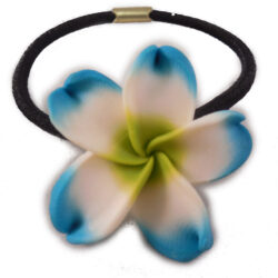 Charming Shark Flower Hair Tie Elastic Teal